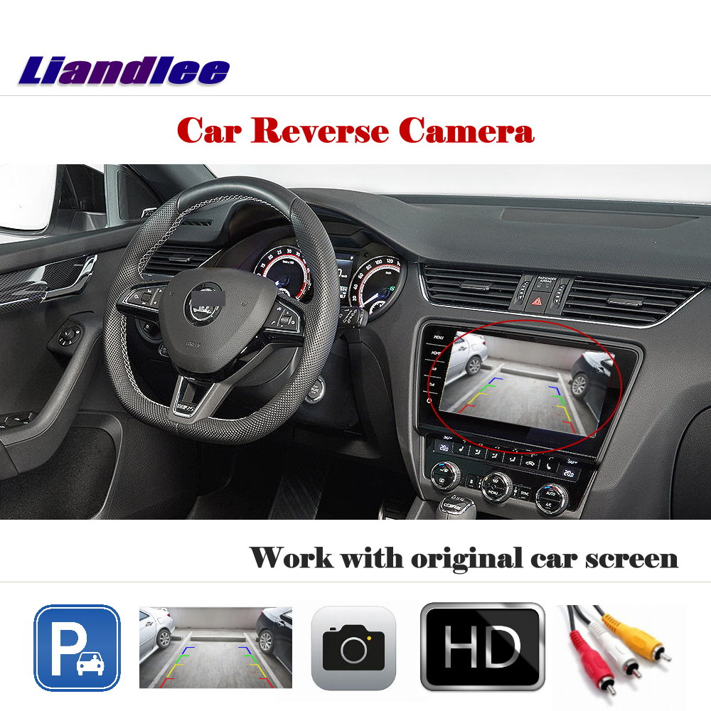 Auto Reverse Rear Camera For Skoda Octavia Mk3 (5E) 2013~2018 / HD CCD Back Parking Camera Work With Car Factory Screen