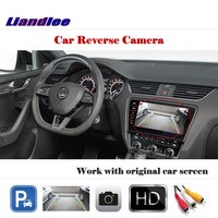 Liandlee Auto Reverse Rear Camera For Skoda Octavia Mk3 (5E) 2013~2018 / HD CCD Back Parking Camera Work with Car Factory Screen