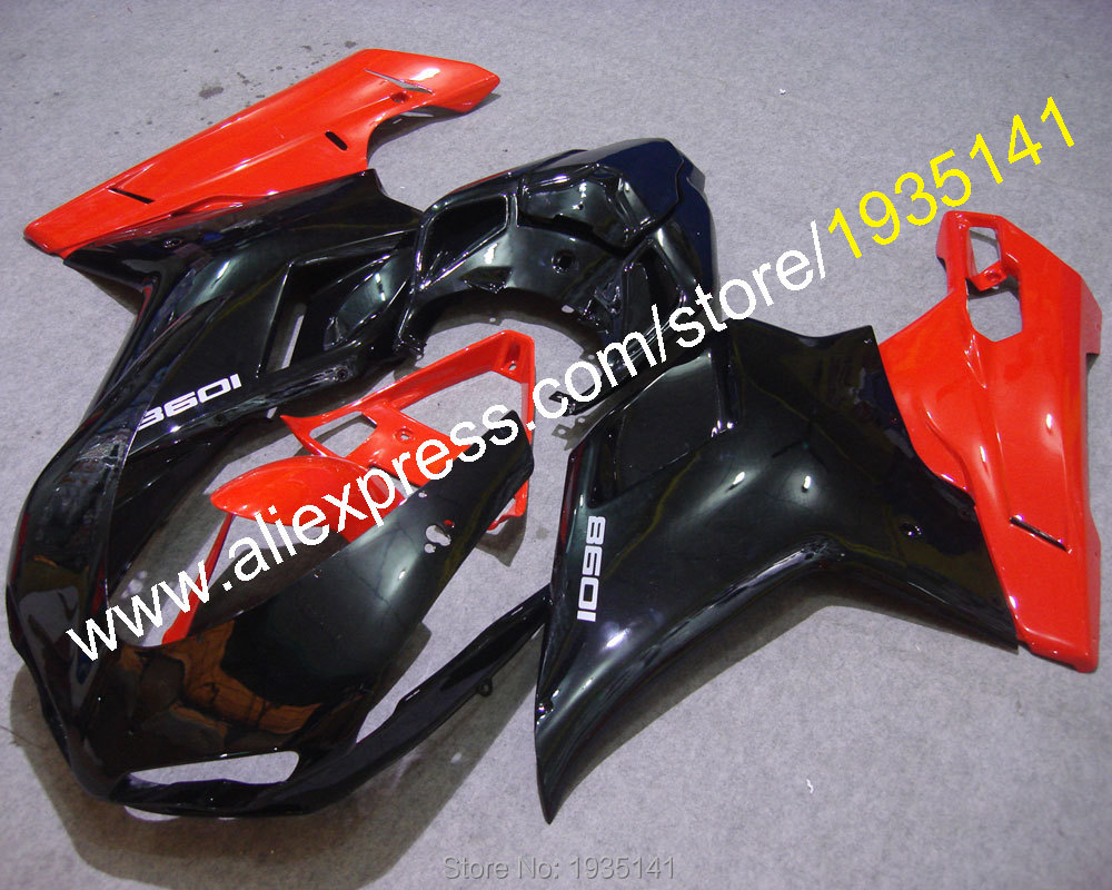 Hot Sales,Motorbike Cowling For Ducati 848 1098  1098S 1198  bodywork kit Fairing 2007 2008 2009 2010 2011 (Injection molding)