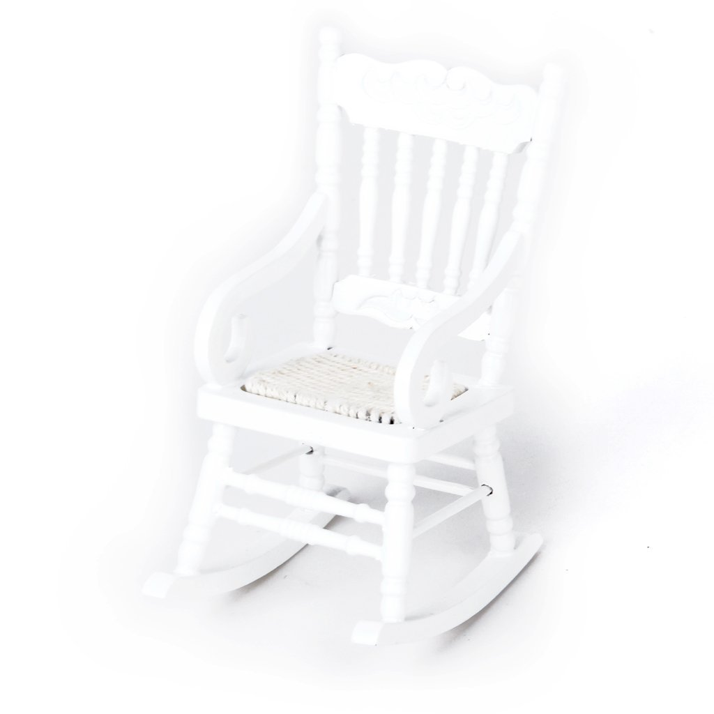 Wholesale 1 12 Miniature Dollhouse Wooden Rocking Chair