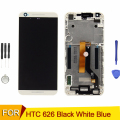 Para htc desire 626 display lcd touch screen digitador com frame assembléia capa