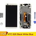 Para htc desire 626 display lcd touch screen digitador com frame assembléia capa