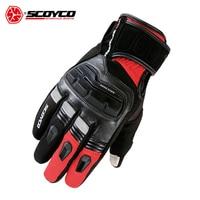 SCOYCO Men S Genuine Cow Leather Motorcycle Gloves Touch Screen Waterproof Windproof Warm Winter Motorbike Racing