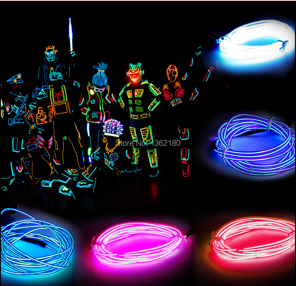 2 stücke von led neon 3 mt 10 füße el draht led neon licht seil el ...