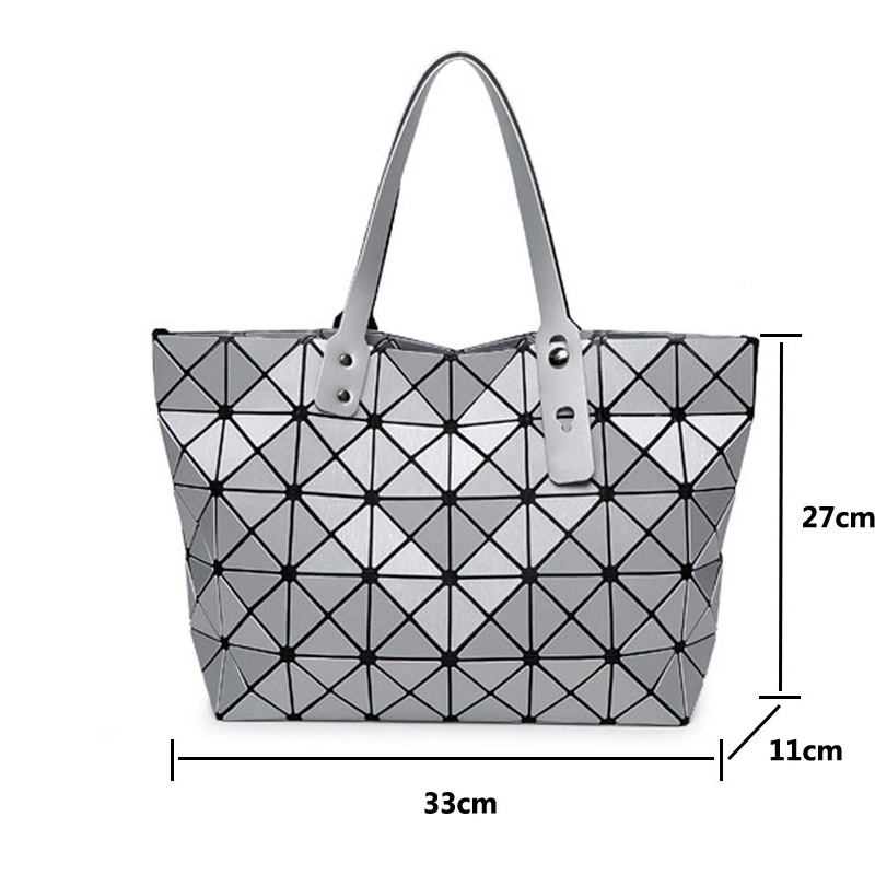 Bag Folding Matt Metal Drawing Shoulder Handbag Fashion Casual Women Tote Handle Geometric In Top Bags From Luggage On
