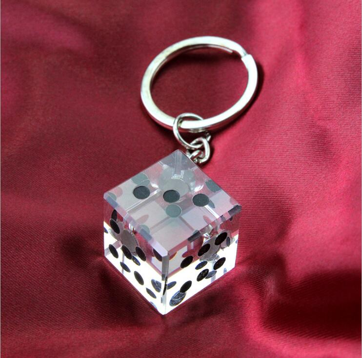 unqiue party gift las vegas themed crystal dice key chain bridal shower favors and gift for man in party favors from home garden on aliexpresscom