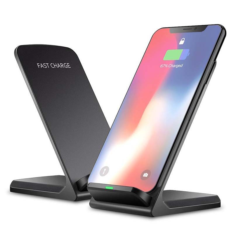 10W Qi Wireless Charger For IPhone XS Max XR X 8 For Samsung Note 9 Xiaomi Mix 2s Fast Wireless Charging Docking Dock Station