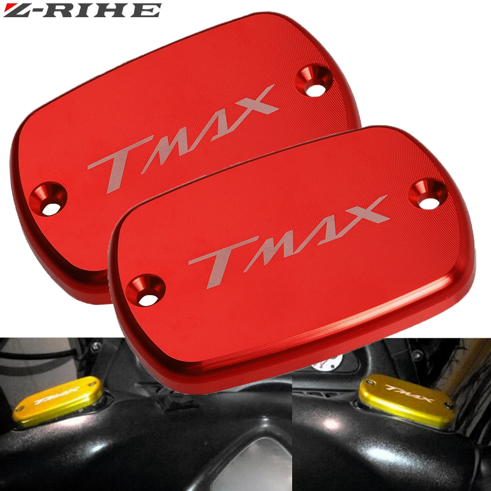 for Tmax CNC Motorcycle front Brake Fluid Reservoir Tank Cap Cover For Yamaha 500 2008-2011 tmax 530 2012-2018
