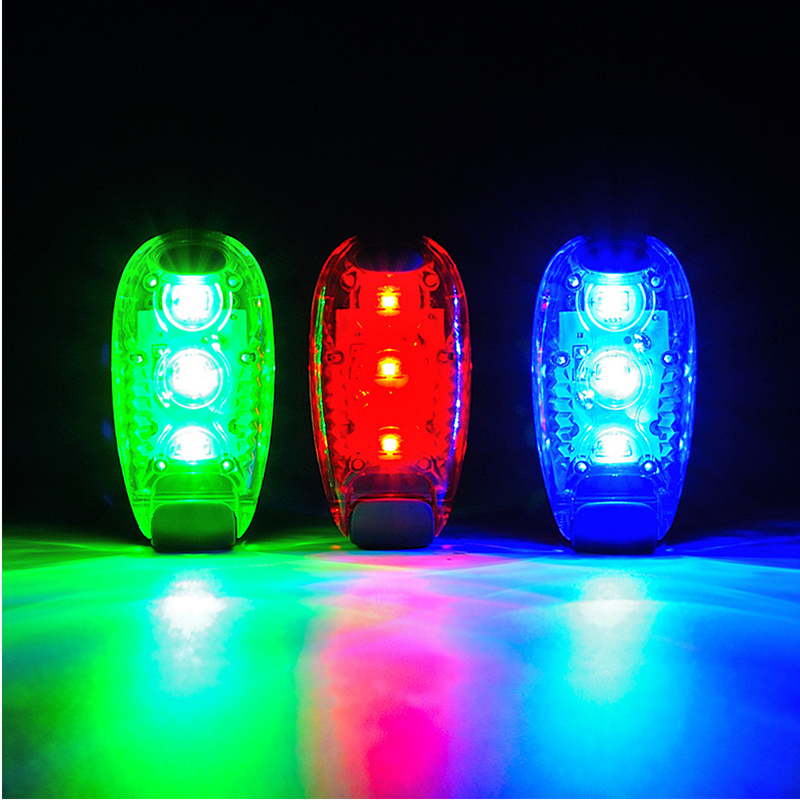 LED Bicycle Light Taillight Safety Warning Bicycle Rear Lamp Waterproof Mountaineering Backpack Helmet Running Flashing Lights