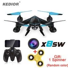 Новинка 2017 года X8SW Wi-Fi Drone RC Quadcopter с 720 P Wi-Fi Fpv hd камера или 1080 P HD камера Безголовый Quad вертолет
