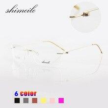 Randlose brille titanium brillen rahmen hochwertige silhouette marke mode frauen oder männer brillen optische rahmen e1055