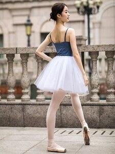 Image 4 - Faldas de malla de tul de 4 capas con cintura elástica, tutú de Ballet El lago de los cisnes profesional, bailarina, para adulto, blanco, negro y rosa