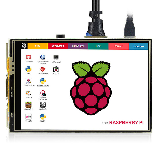 "Elecrow 3.5 inch Display Raspberry Pi 3 Touch Screen Display 480x320 TFT 3.5"" LCD Module 3.5inch RPI Display with Touch Pen"