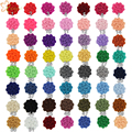 "60pcs/lot New Arrival Chic 1"" Tiny Felt Flower without clips Hair Accessories 2016 For Kids Hair pin for baby DIY Headbands"