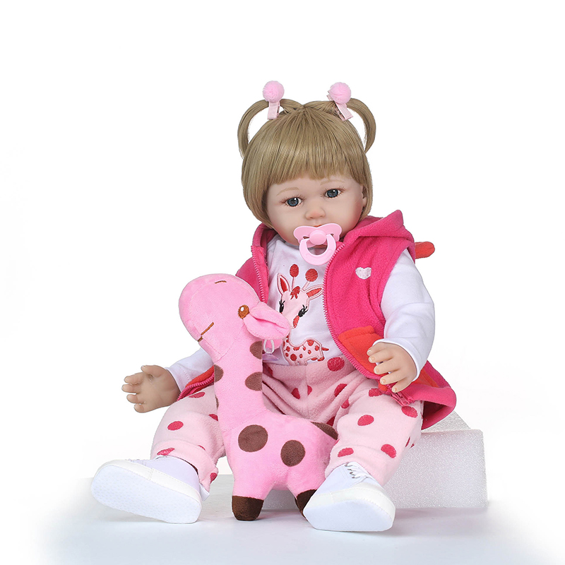 Nicery 23-24inch 58-60cm Bebe Reborn Doll Soft Silicone Boy Girl Toy Reborn Baby Doll Gift for Child Rose Red Coat Pink Giraffe nicery 18inch 45cm reborn baby doll magnetic mouth soft silicone lifelike girl toy gift for children christmas pink hat close