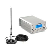 NIORFNIO Wireless 15W PLL FM Transmitter Mini Radio Stereo Station Bluetooth Lossless Music Broadcast + Power + Antenna Y4439D