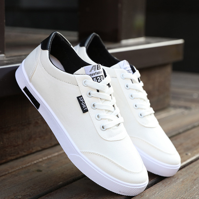 Sorrynam New Students Board Shoes Wholesale Boys Canvas White Shoes