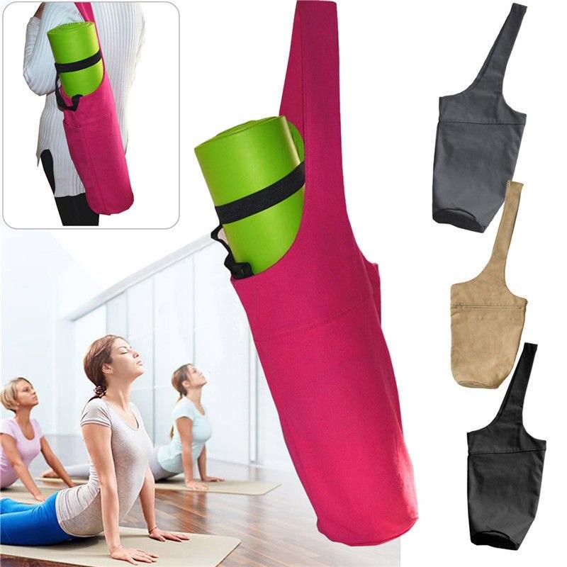 Canvas Yoga Mat Bag Ergonomic Durable Multifunctional Carry Bag Sports Bags ASD88