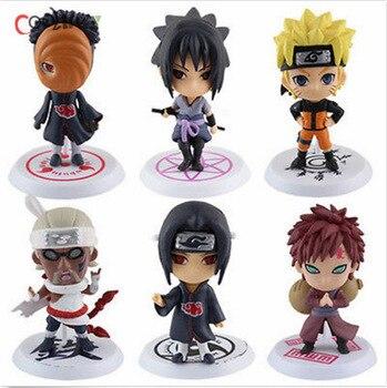 Free Shipping 6pcs <font><b>Full</b></font> <font><b>Set</b></font> <font><b>Q</b></font> <font><b>Edition</b></font> <font><b>Naruto</b></font> <font><b>Anime</b></font> <font><b>Action</b></font> Figures Collection PVC <font><b>Naruto</b></font> Figures Model toy <font><b>Set</b></font> <font><b>Action</b></font> Figure Toys