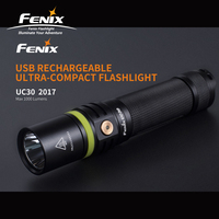 1000 لومينز فينيكس UC30 2017 كري XP-L مرحبا V3 LED الشعلة قابلة للشحن المصغّر usb مصباح يدوي مع 2600 mAh 18650 بطارية