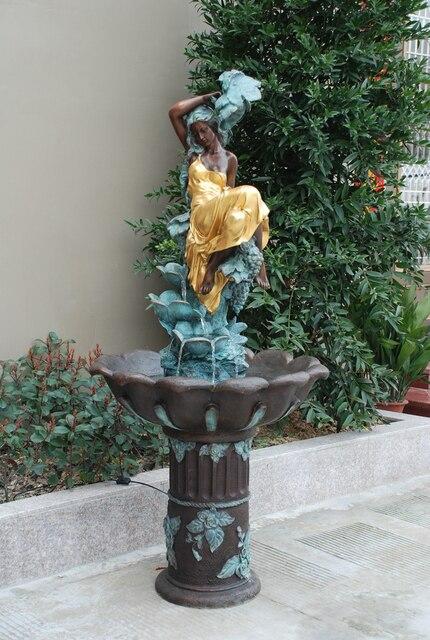 "70""  Europe Large size Outdoor  Bronze fountain sculpture garden plaza Decoration"