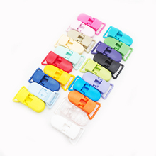 Chenkai 10PCS 20mm Plastic Baby Pacifier Clips Dummy Suspender Mix Colors Soother Holder For Feeding Accessories