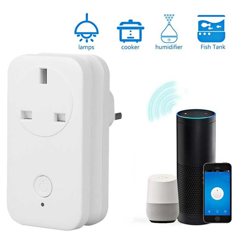 Przełącznik Wifi Ws2 inteligentne gniazdo do Apple Homekit Alexa Google aplikacja domowa z pilotem Uk Plug