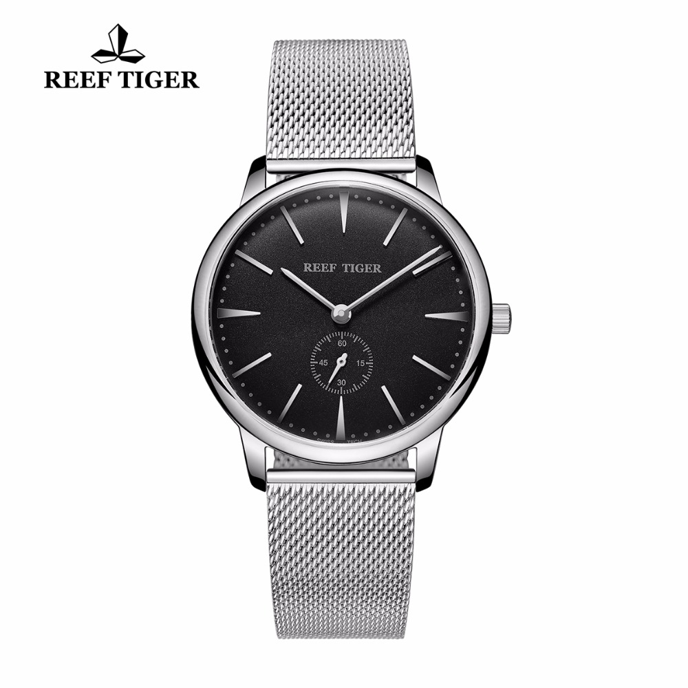 Reef Tiger/RT Casual Vintage Watches Waterproof Full Steel Mens Watch Quartz Couple Watches RGA820