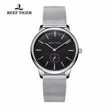 Reef Tiger/RT Casual Vintage Watches Waterproof Full Steel Mens Watch