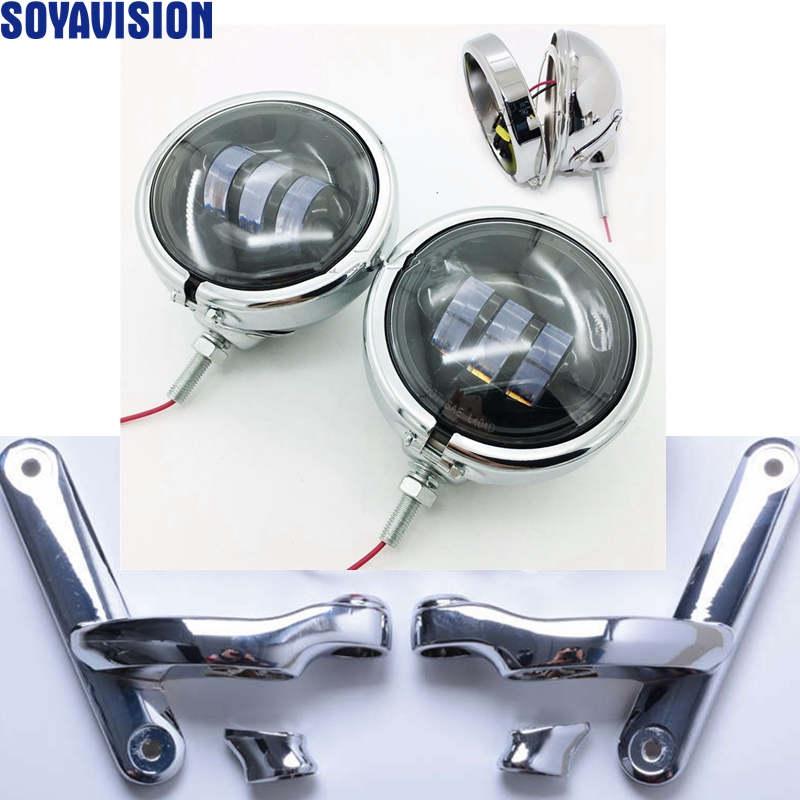 Harley Motorrad Chrome Zusatzbeleuchtung Klammern nebelscheinwerfer ...