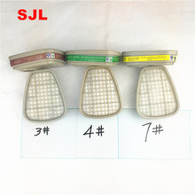 1pack SJL  Organic Vapor /ammonia gas/ Acid gases/ Cartridges cooperate 6001 with gas mask 6200 and 7502  6800 use