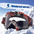 Goggles Dirt Bike ATV Cross Riding Ski Fox Motocross Glasses Motor For Motorcycle UV Protection Ski Snowboard Goggles Clear Lens