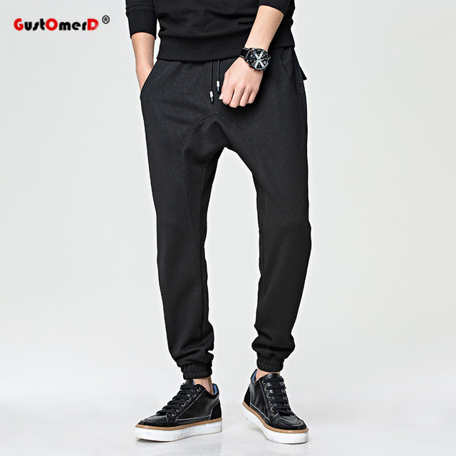 GustOmerD Big Pocket Decoration High Quality Black Male Trousers Cargo Men Pants Casual Solid Sweatpants Men Jogger Pants Men