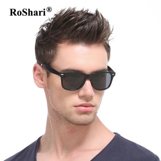 Roshari Винтаж Авиатор Защита от солнца очки Для мужчин поляризационные wo Для мужчин ретро заклепки Защита от солнца стекло вождения Защита от солнца Очки для Для мужчин люнет De Soleil 2141
