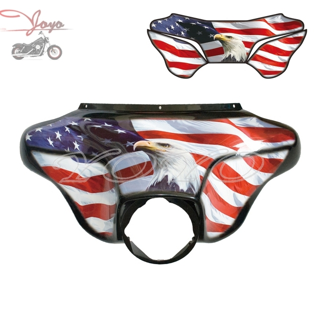 Custom usa eagle flag decals vinyl graphic sticker fairing stickers for harley electra glide street glide