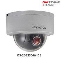 In Stock Hikvision Original English PTZ DS 2DE3304W DE 3MP Mini PTZ IP Camera 4X Zoom