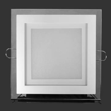 8pcs/lot 24W Dimmable Glass Square LED Panel Downlight Emitting Color 4000 4500K DHL Free shipping