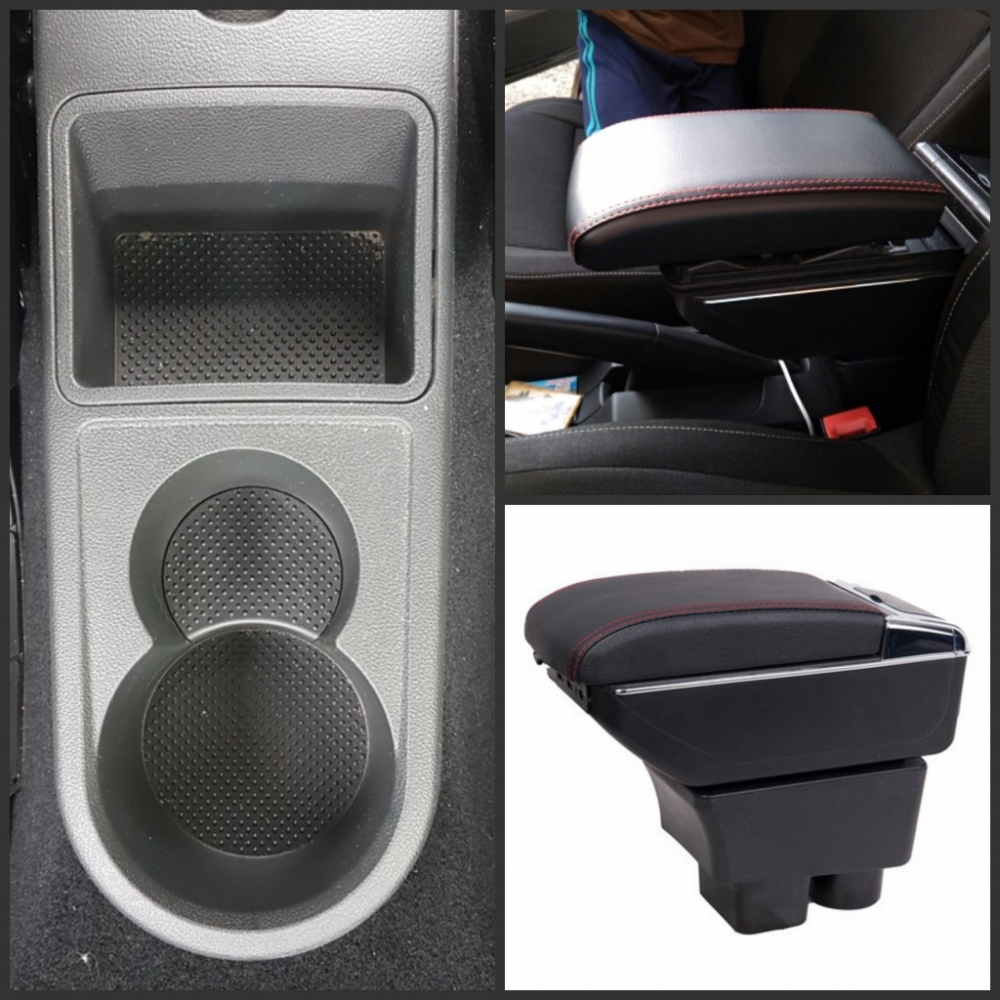 For Rapid armrest box central Store content Storage Rapid school armrests box with cup holder ashtray USB interface universal leather car armrest central store content storage box with cup holder center console armrests free shipping