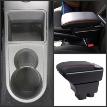 For VW Rapid armrest box central Store content Storage box with cup holder ashtray USB interface
