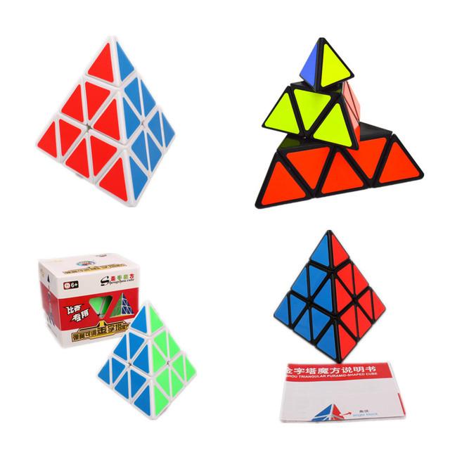 Shengshou 3x3x3 triángulo pyraminx cubo mágico puzzle giro velocidad cubo neo cube 98mm pirámide niños aprendizaje y educativos juguetes