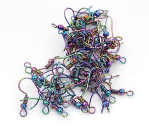 50 шт./лот 20x17 мм Модные цвета, фурнитура для сережек DIY, застежки, крючки, аксессуары для изготовления ювелирных изделий, S4 33|Ювелирная фурнитура и компоненты|   | АлиЭкспресс