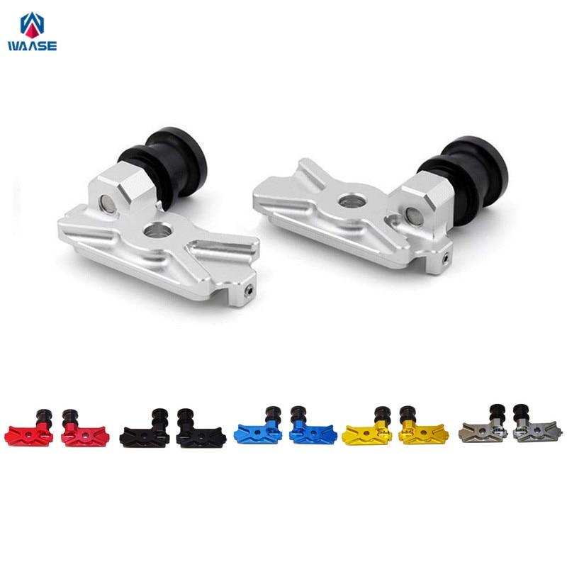 цена на waase Motorcycle CNC Aluminium Swingarm Swing Arm Spool Slider Adapters / Mounts For 2011 2012 2013 HONDA CBR250R CBR 250R MC41