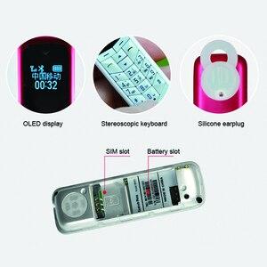 Image 4 - Мини наушники MAFAM BM50 с функцией голоса, миниатюрный экран, гарнитура с Bluetooth, номеронабиратель, самый маленький сотовый телефон GSM BM70 P485
