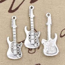 Guitar Tibetan Silver Charms 5Pcs