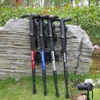 Hewolf Ultra Light Nordic Walking Sticks Telescopic Trekking Poles Anti Shock Hiking Sticks Camping Equipment 1