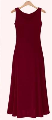 Летнее платье для женщин модное повседневное Макси платье размера плюс черные платья Бохо сарафан вечерние элегантные женские платья - Цвет: wine red vest
