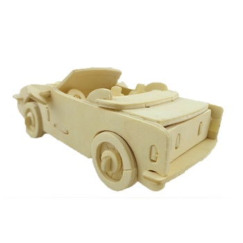 BOHS Scale Model 3D Puzzle  Convertible Runabout Open  Luxury Cars 1