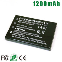 NP-60 FNP-60 NP60 SLB-1137 SLB-1037 KLIC-5000 D-Li2 Li-20B NP-30 DB-40 PDR-BT3 Battery for Fujifilm PENTAX Kodak OLYMPUS CASIO