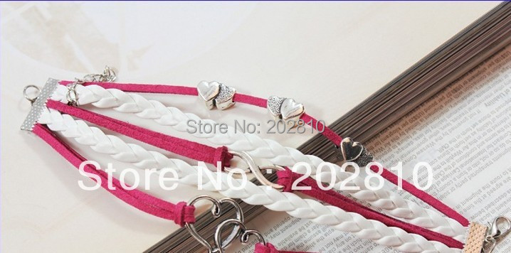 Best-selling either South Korea velvet hand-made by infinite love bracelets  - buy with discount
