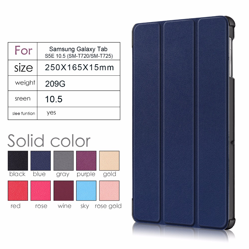 2019 new Case for samsung galaxy tab S5e Tablet Protective case for galaxy tab S5e 10 5 SM T720 SM T725 Cover Case in Tablets e Books Case from Computer Office